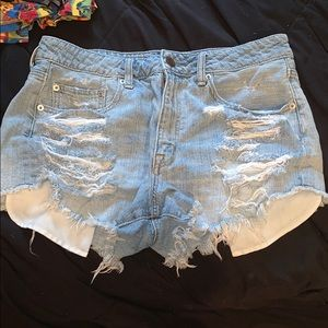 American Eagle Hi-Rise Festival Denim Shorts